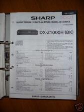 Manuel de service pour Sharp dx-z1000h Lecteur CD, original