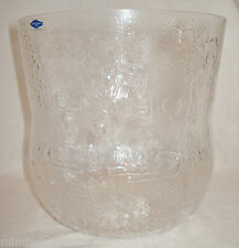 "Nuutajarvi Art Glass Oiva Toikka Design Fauna Bowl 7 1/4"" Vase Pot"