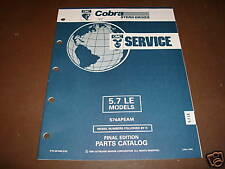 OMC Cobra Stern Drives 5.7 LE Parts Catalog ´92