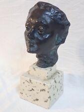 WOMAN'S FACE HEAD SCULPTURE FONDERIE DE COUBERTIN CAST RESIN REPRODUCTION