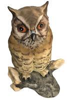 """Vintage 1970s Owl Figurine Exclusive Deutsche Noritake Bisque Matte Finish 5"""""""