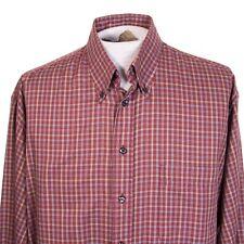 Burberry London Mens L Multicolor Plaid Check Long Sleeve Button Front Shirt