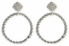 NWT Amrita Singh Silver Crystal Lismore Statement Earrings ERC 4024