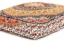 Oversize Elephant Mandala Floor Cushion Ottoman Pouf Indian Pillow Cover Dog Bed