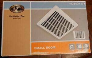 Hampton Bay 1002 075 193 Small Room Ventilation Exhaust Fan in White, 70 CFM NEW