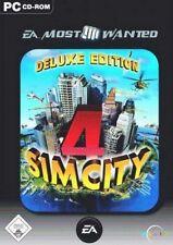 SIM CITY 4 + AddOn Rush Hour = Deluxe Ed. Deutsch GuterZust.