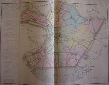 CARTE de 1870 Canton SAINT DENIS St Ouen Clichy Courneuve Aubervilliers Stains