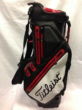 Used- Titleist Players 5 Stadry Golf Stand Bag, Black/White/Red.