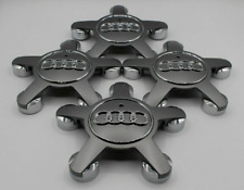** 4x Original Audi 8X0601165 Nabendeckel silber A1 S1 A3 Lochkreis 5x100 NEU *