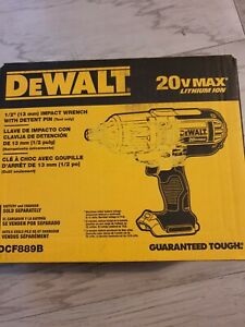DEWALT 20V Li-Ion 1/2 in. Impact Wrench DCF889B New - Tool Only