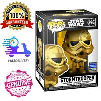 STORMTROOPER GOLD WONDROUS CON 2021 EXCL 💢 FUNKO POP STAR WARS #296 ✅ In Stock