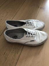 Vans White Leather Decon Shoes Size 9 UK 43 EU