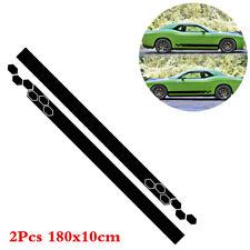 1 Pair Black Graphics Vinyl Decals Car Body Side Skirt Decor Sticker Universal