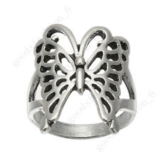 Wholesale Lots 20Pcs Jewelry Outsize Cut Butterfly Silver plated Animal Rings