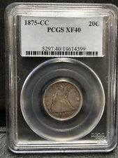1875-CC 20C PCGS XF40 Twenty Cent Piece Carson City -
