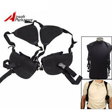 Tactical Underarm Double Pistol Gun Shoulder Armpit Holster Pouch Left & Right