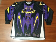 Vintage Black Diablo Paintball Jersey ( Autococker Eclipse Exalt Ninja Empire )