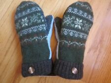 Handmade Wool Mittens from Upcycled Sweaters-DOUBLE Fleece Lined (Extra warm!)