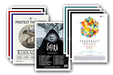 TESSERACT - 10 promotional posters - collectable postcard set # 1