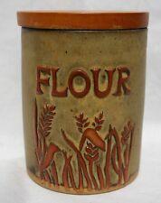 Vintage Tremar Stoneware  Pottery Lidded Flour Storage Jar  Cornwall England