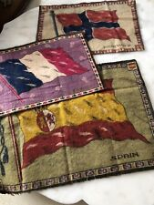 9 Antique Tobacco Flannel Flags