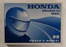 1999 HONDA CMX 250C / C2 REBEL  OWNER`S MANUAL