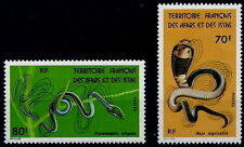 1976 AFARS & ISSAS N°436/437** Serpents Naja & Psammophis elegans / snakes MNH