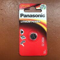 NEW Panasonic CR1220 ECR1220 DL1220 3v Lithium Battery Coin Cell LONGEST EXPIRY