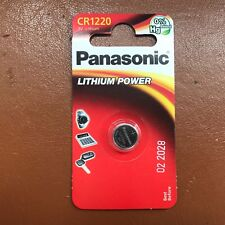 NEW Panasonic CR1220 ECR1220 DL1220 3v Lithium Battery Coin Cell LONGEST EXPIRY