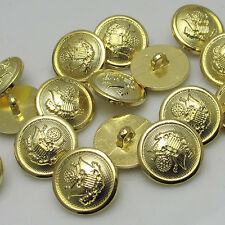 New 50pcs Crown Gold Plastic Buttons 22mm Sewing Craft Back Holes