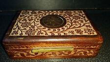 ANCIENNE BOITE A CIGARETTES BOIS OBJET ANCIEN DU FUMEUR TABATIERE TABAC BIJOUX