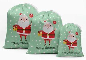 Darling Souvenir White Santa & Gift Christmas Party SuppliesDrawstring-cWS