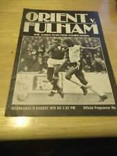 Leyton Orient v Fulham 11/8/76 Anglo Scottish Cup