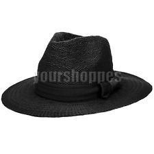 Women's Floppy Wide Brim Fedora Trilby Cap Summer Beach Sun Straw Hat With Bow