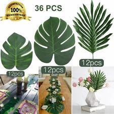 36 Pcs Artificial Palm Leaves Tropical Fake Plant Faux Party Garden Decoration