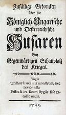 Österreichischer Erbfolgekrieg Maria Theresia Husaren Ungarn Gedicht Habsburg