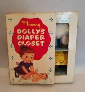 RARE Vintage My Merry DOLLY'S DIAPER CLOSET Cincinnati, Ohio 1957 Complete!