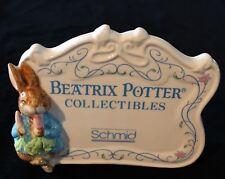Vintage 1987 Schmid Porcelain Beatrix Potter Collectibles Store Sign.