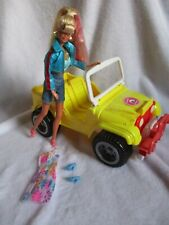 Rare Barbie Baywatch Car Jeep and Vintage Barbie Doll