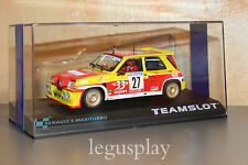 "Slot SCX Scalextric Team Slot 12104 Renault 5 Maxiturbo ""33 Ex2port"" Nº27 - New"