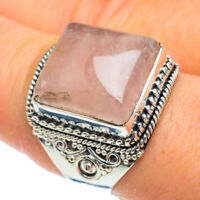 Rose Quartz 925 Sterling Silver Ring Size 9 Ana Co Jewelry R43932F