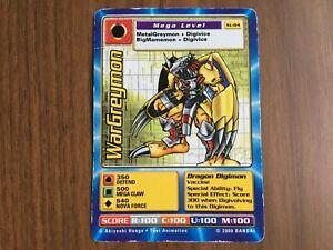 DIGIMON ST-84 WarGreymon Swedish Promo Card TCG Rare Bandai