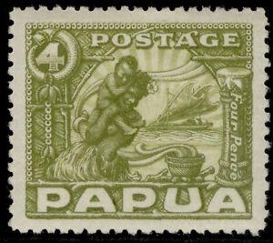 AUSTRALIA - Papua GV SG135, 4d olive-green, M MINT. Cat £12.