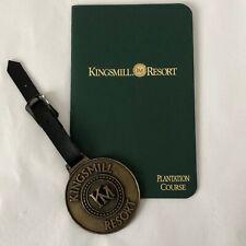 Vintage Kingsmill Golf Resort Plantation Course Booklet and Golf Bag Luggage Tag