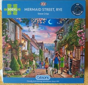 Gibsons Mermaid Street Rye Jigsaw Puzzle (500 XL Extra Large Pieces) Complete