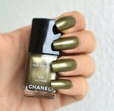 New Authentic CHANEL LE VERNIS NAIL COLOUR 591 ALCHIMIE Green Metalic Olive Fall