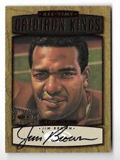 JIM BROWN 1999 DONRUSS GRIDIRON KINGS AUTO AUTOGRAPH CARD #107/1000!!