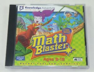 Knowledge Adventure Math Blaster Ages 9 - 12 - PC Educational Learning Game 1999
