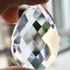 10Pcs Chandelier Glass Crystals Lamp Prisms Parts Hanging Drops Pendants 50mm