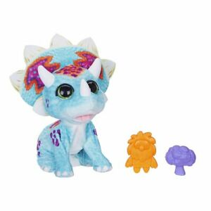 New Hasbro furReal Hoppin Topper Interactive Plush Pet Toy Triceratops 35 Motion